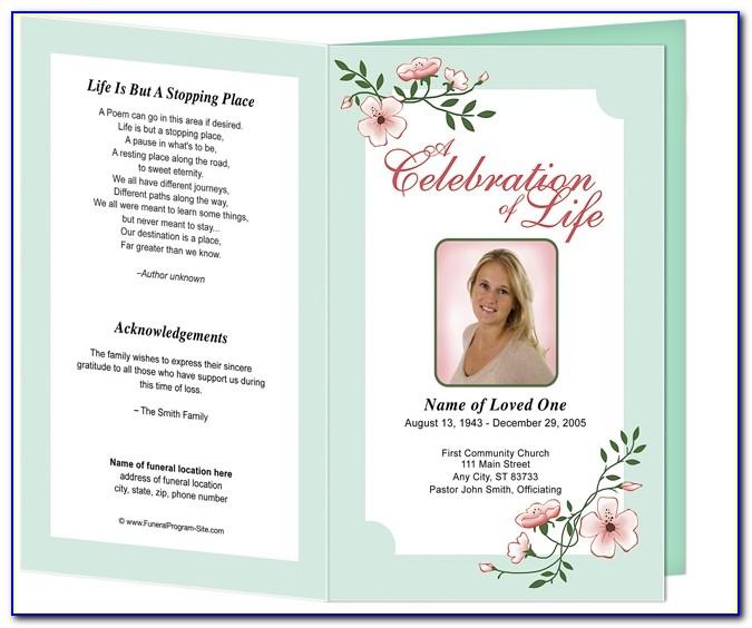 Free Funeral Memorial Service Program Template