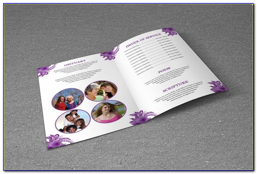 Free Funeral Program Template Editable