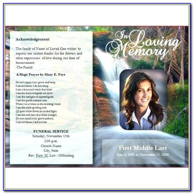 Free Funeral Programs Templates For Mac