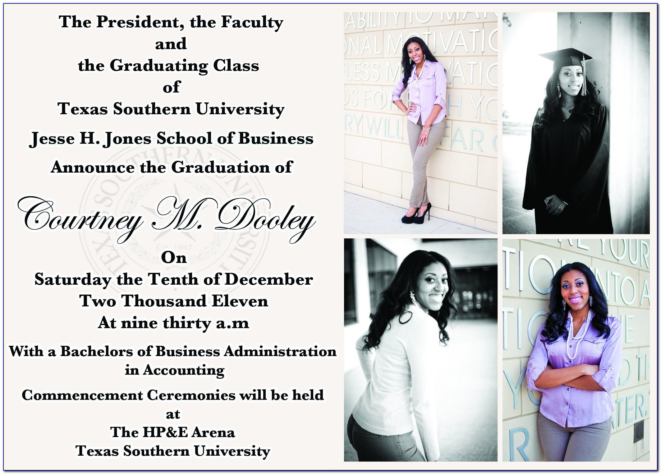 Free Graduation Invitation Templates For Microsoft Word