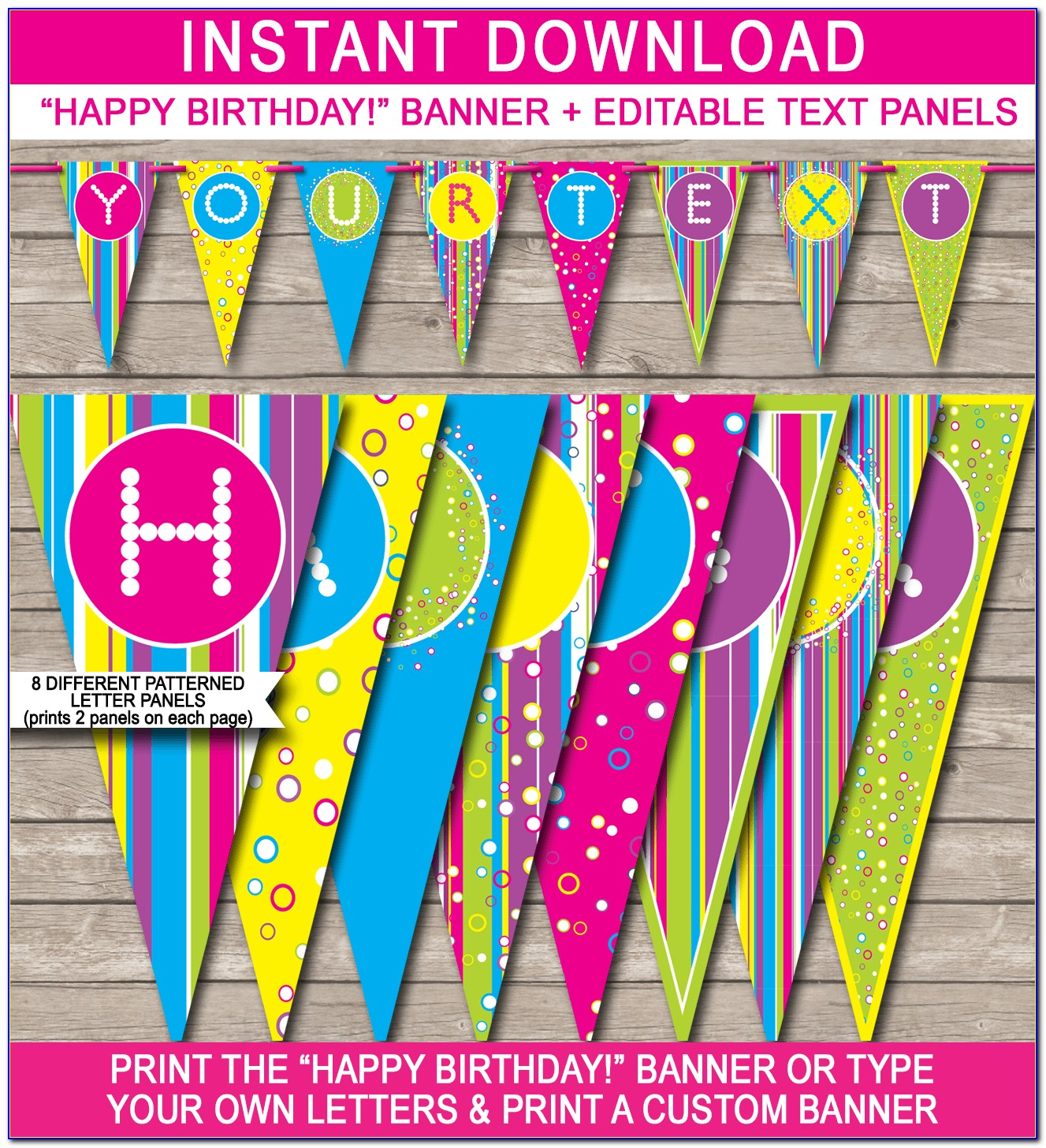 Free Happy 30th Birthday Banner Template