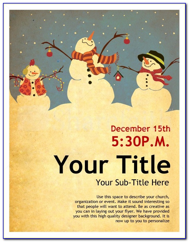 Free Happy Holiday Flyer Templates