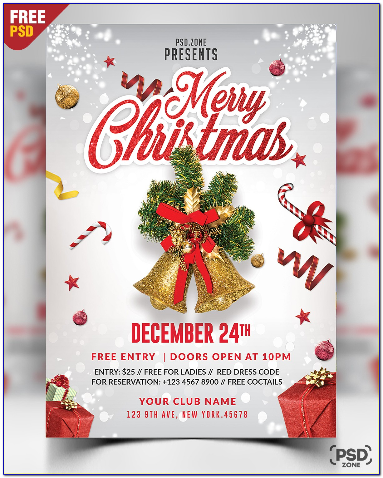 Free Holiday Event Flyer Template