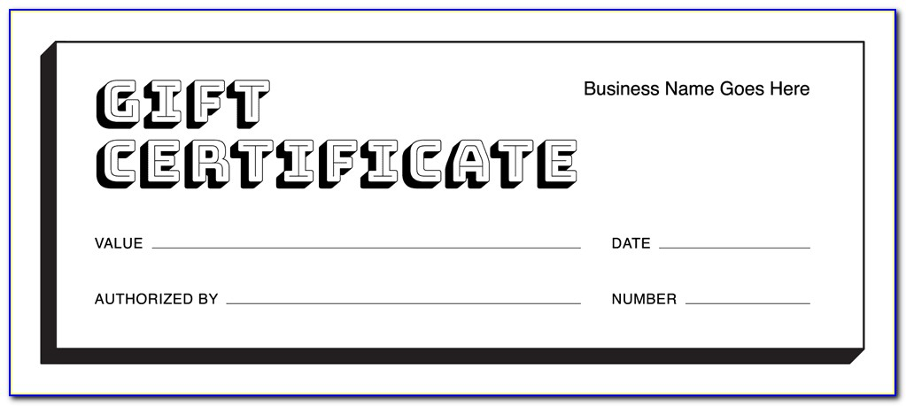 Free Holiday Gift Certificate Templates Printable