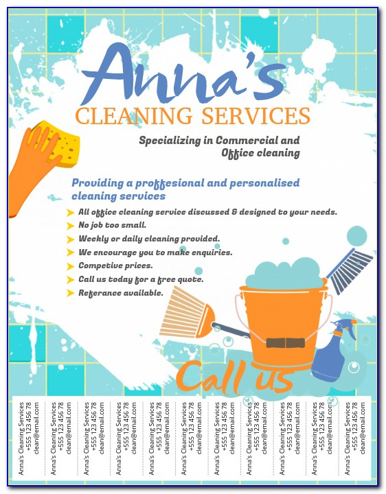 Free House Cleaning Flyer Templates