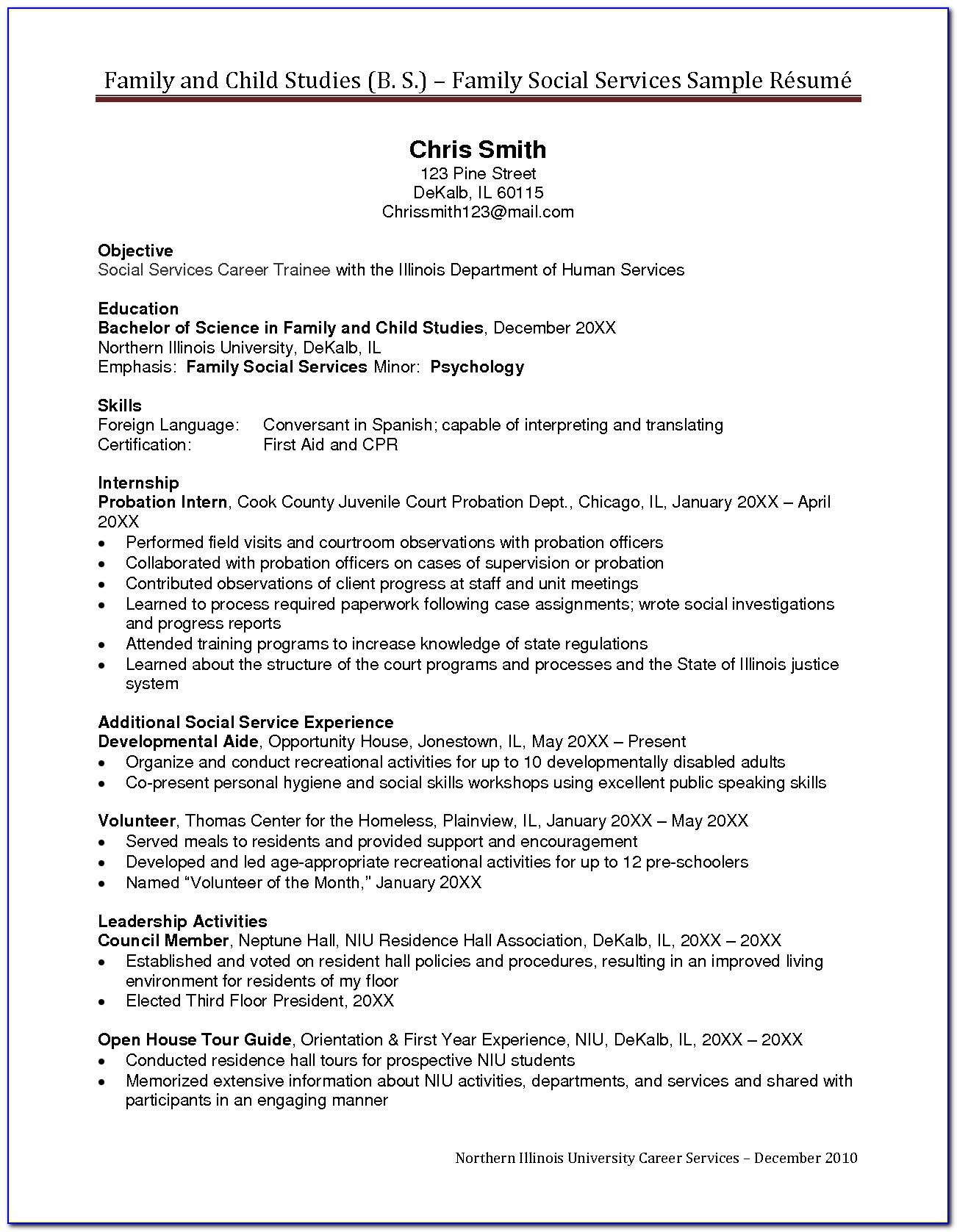 Free Human Services Resume Templates