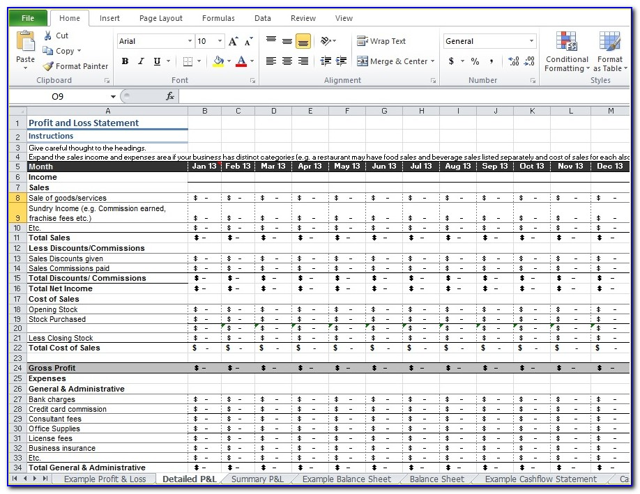 Free Income Statement Template Excel