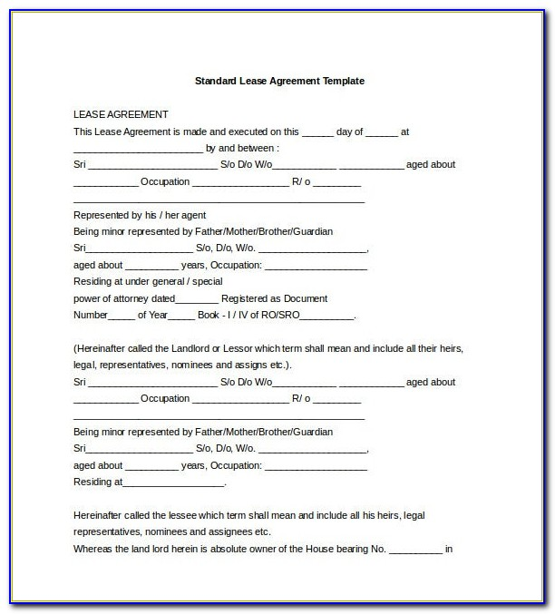 Free Lease Agreement Word Format