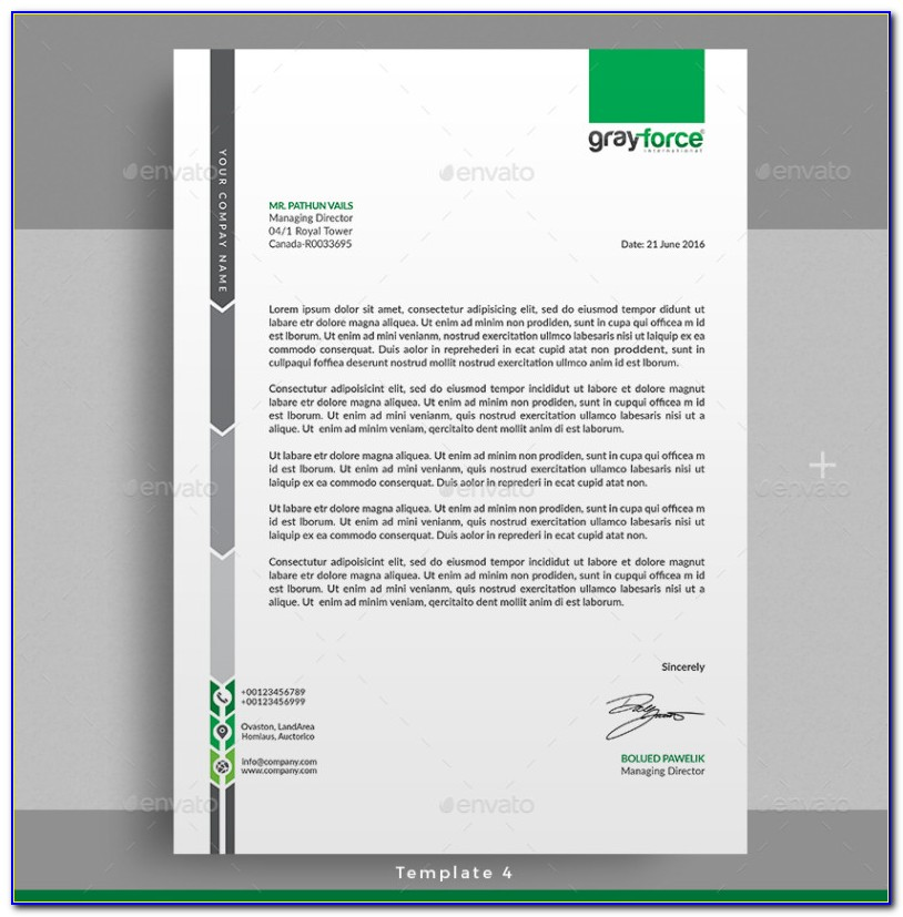 Free Letterhead Format Download