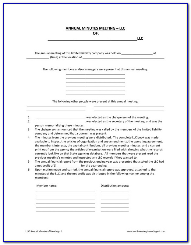 Free Llc Operating Agreement Template
