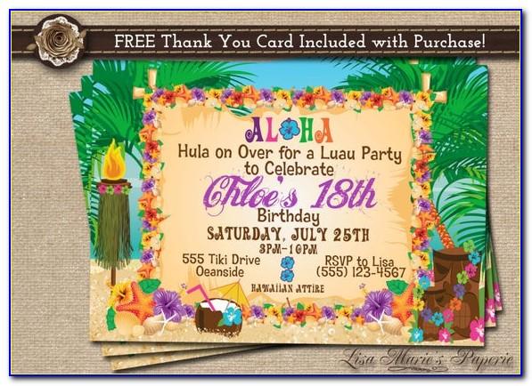 Free Luau Invitation Maker