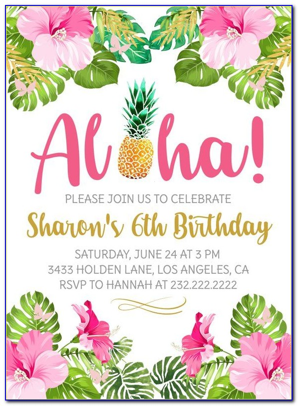 Free Luau Party Invitation Templates