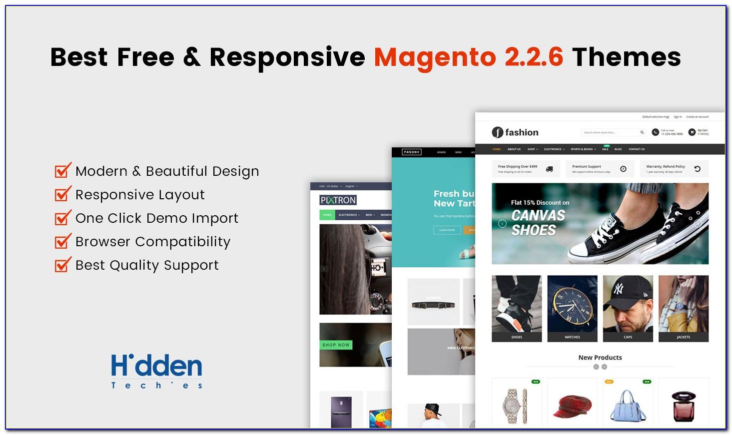 Free Magento Webshop Templates