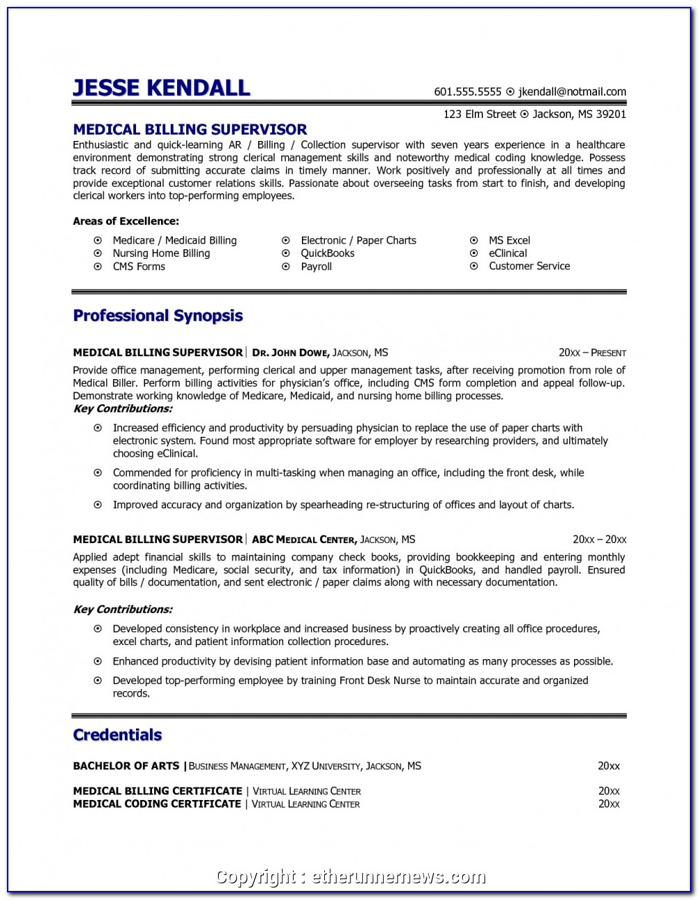 Free Medical Assistant Resume Templates