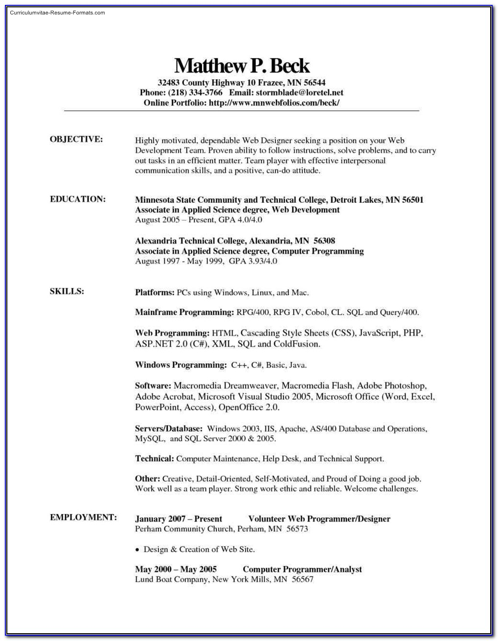 Free Microsoft Office Resume Templates 2014