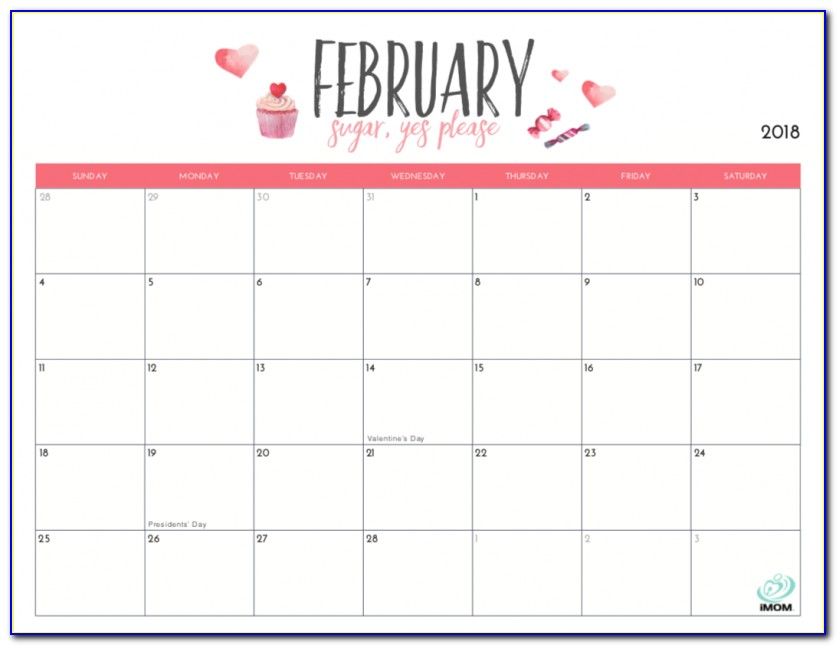 Free Monthly Calendar Template Word