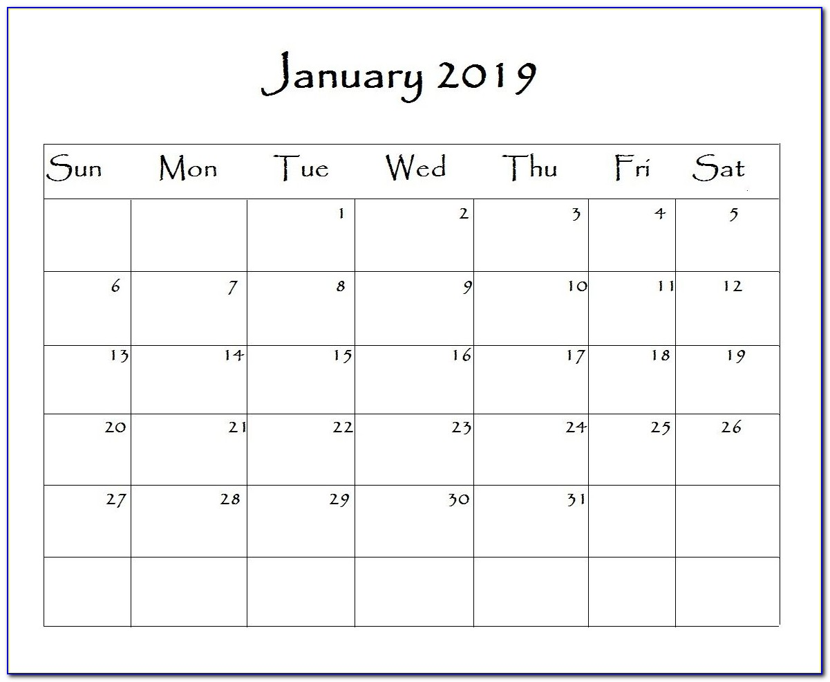 Free Monthly Schedule Calendar Template