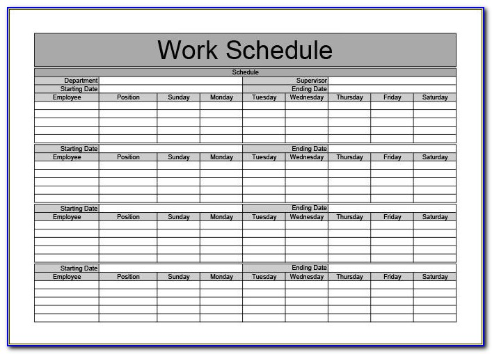 Free Monthly Work Plan Template
