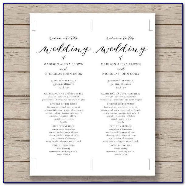 Free Ms Word Wedding Program Templates