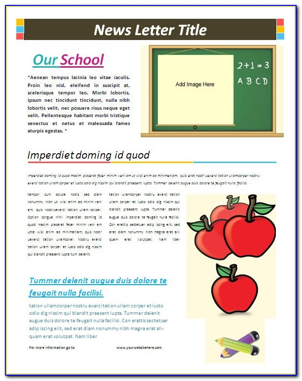 Free Newsletter Templates Microsoft Office 2003
