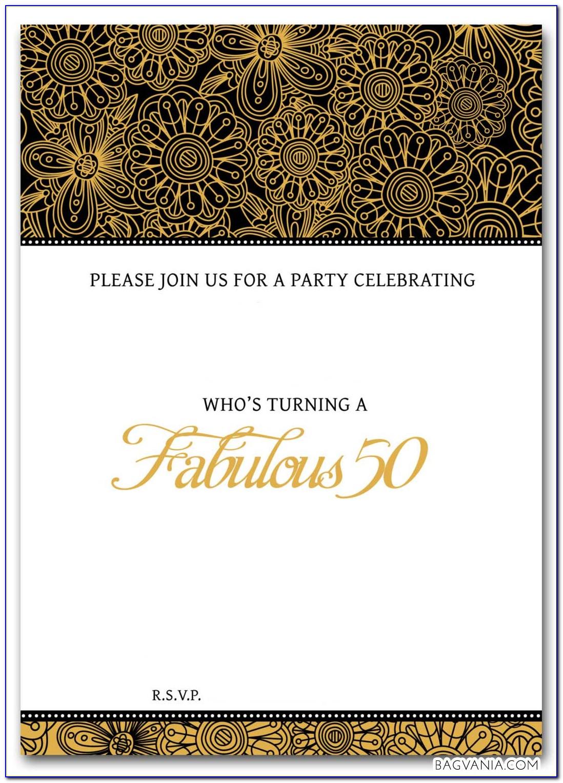 Free Online 50 Th Birthday Invitation Templates