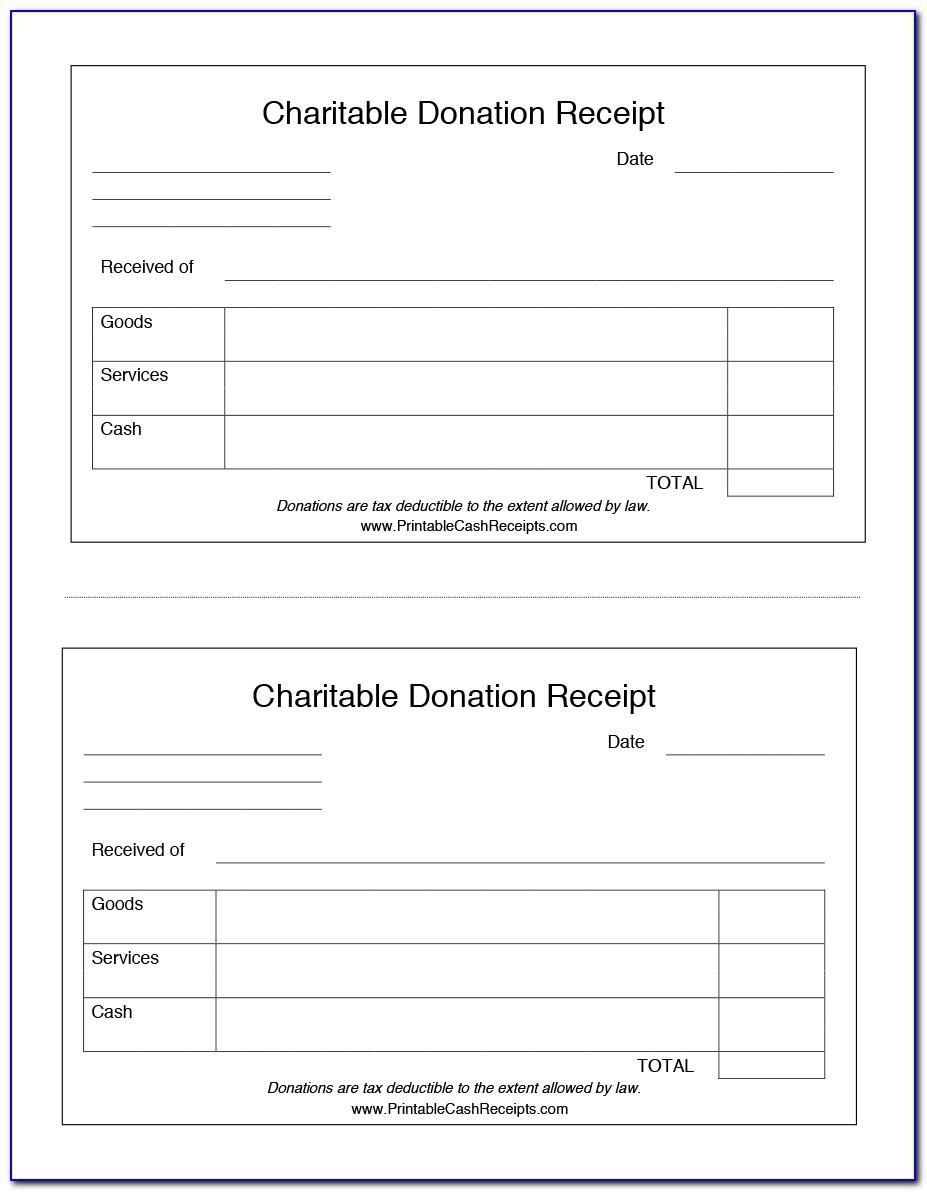 Free Online Donation Receipt Template