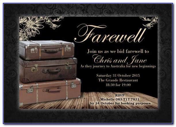 Free Online Farewell Invitation Templates