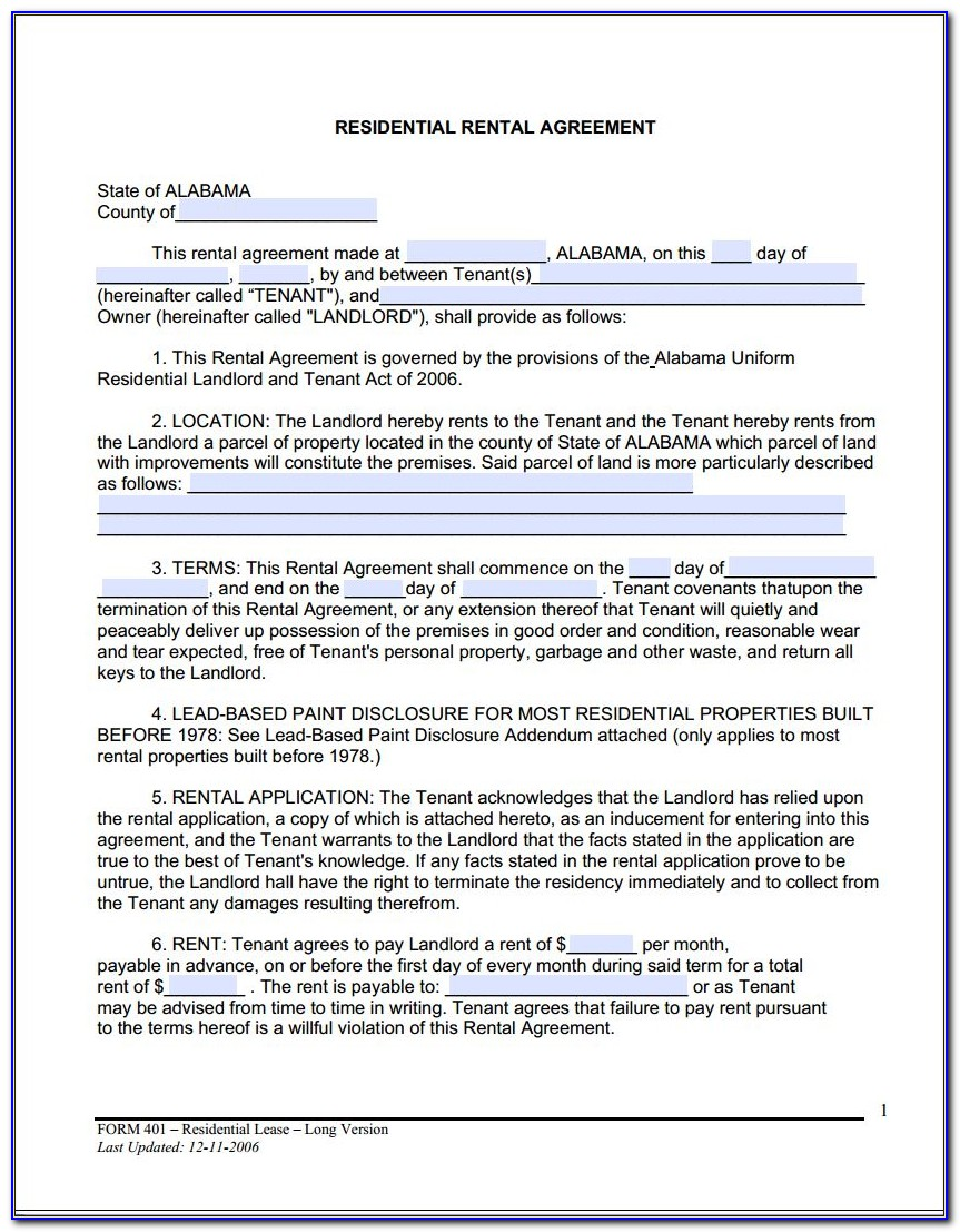 Free Online Rental Agreement Forms