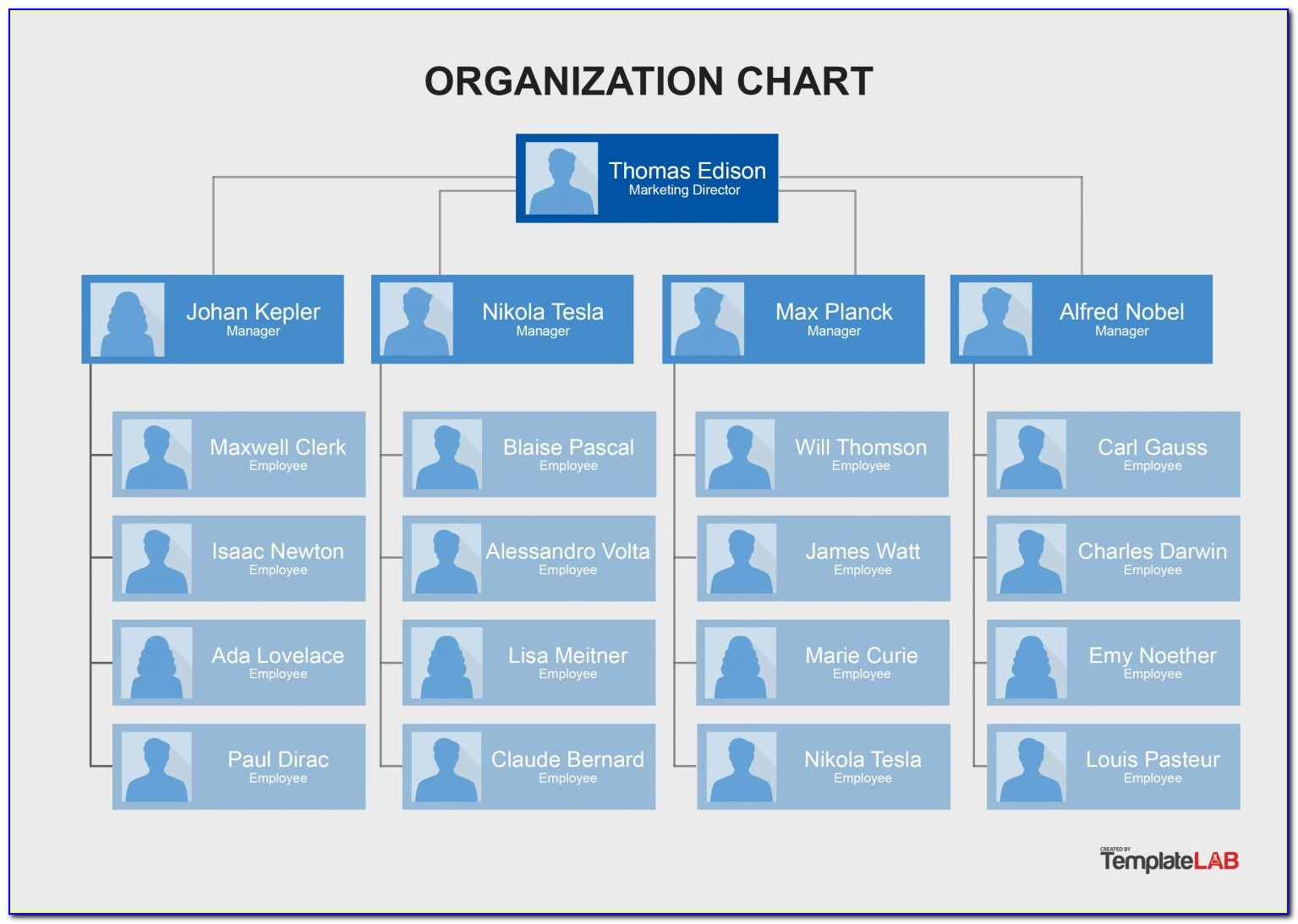 Free Organizational Chart Template With Pictures