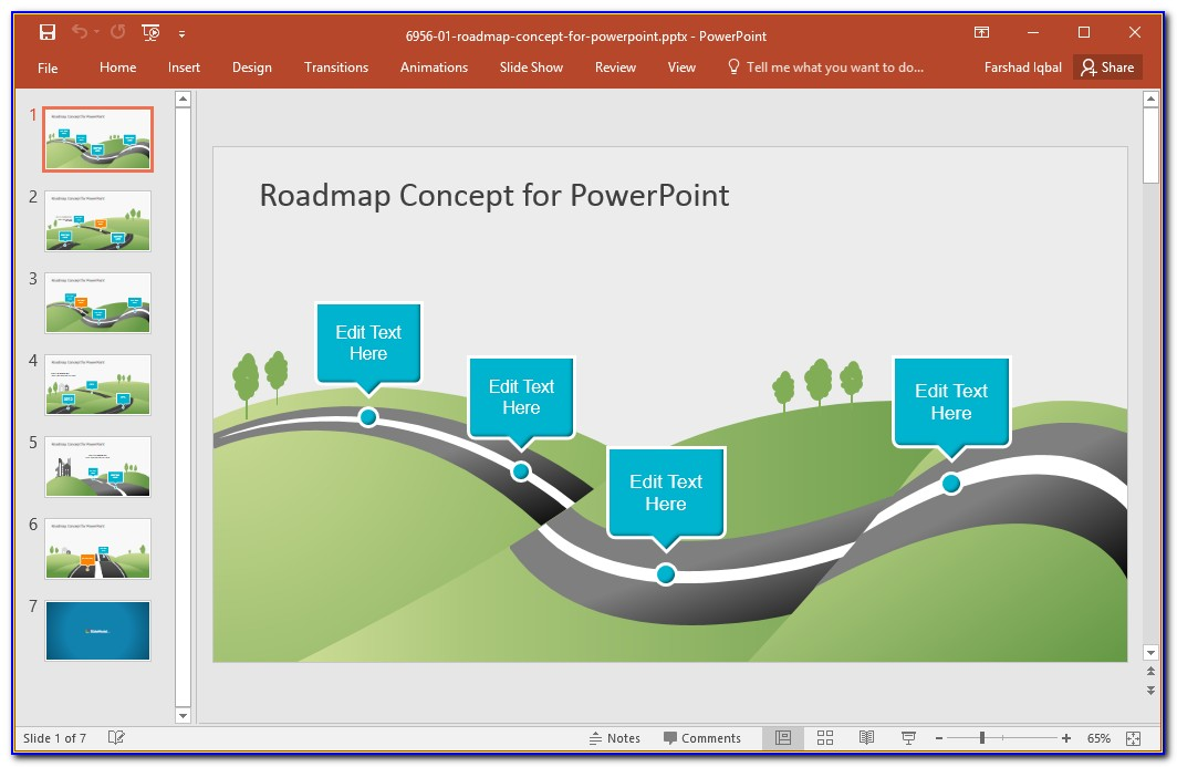 Free Ppt Template Roadmap