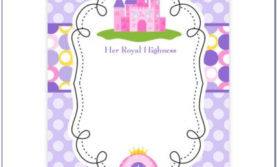 Free Princess Birthday Party Invitation Templates