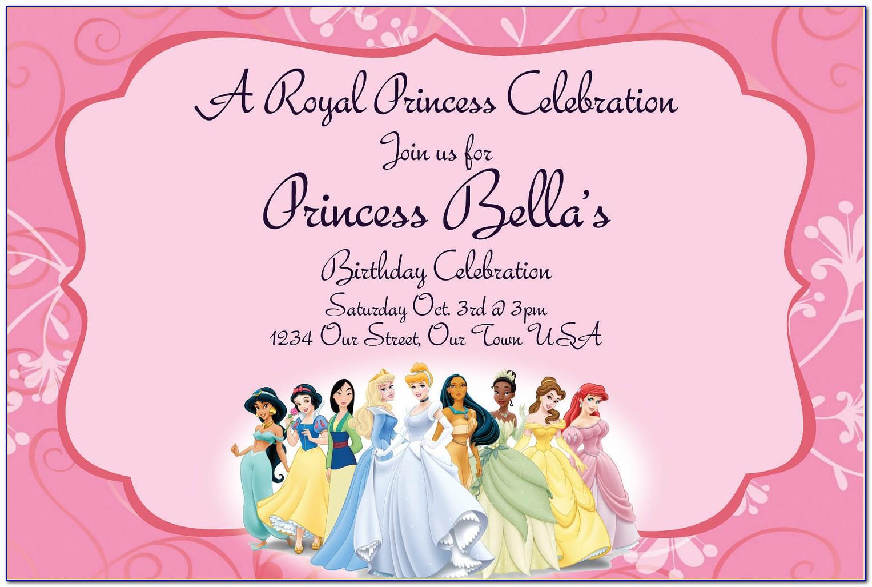 Free Princess Party Invitation Templates