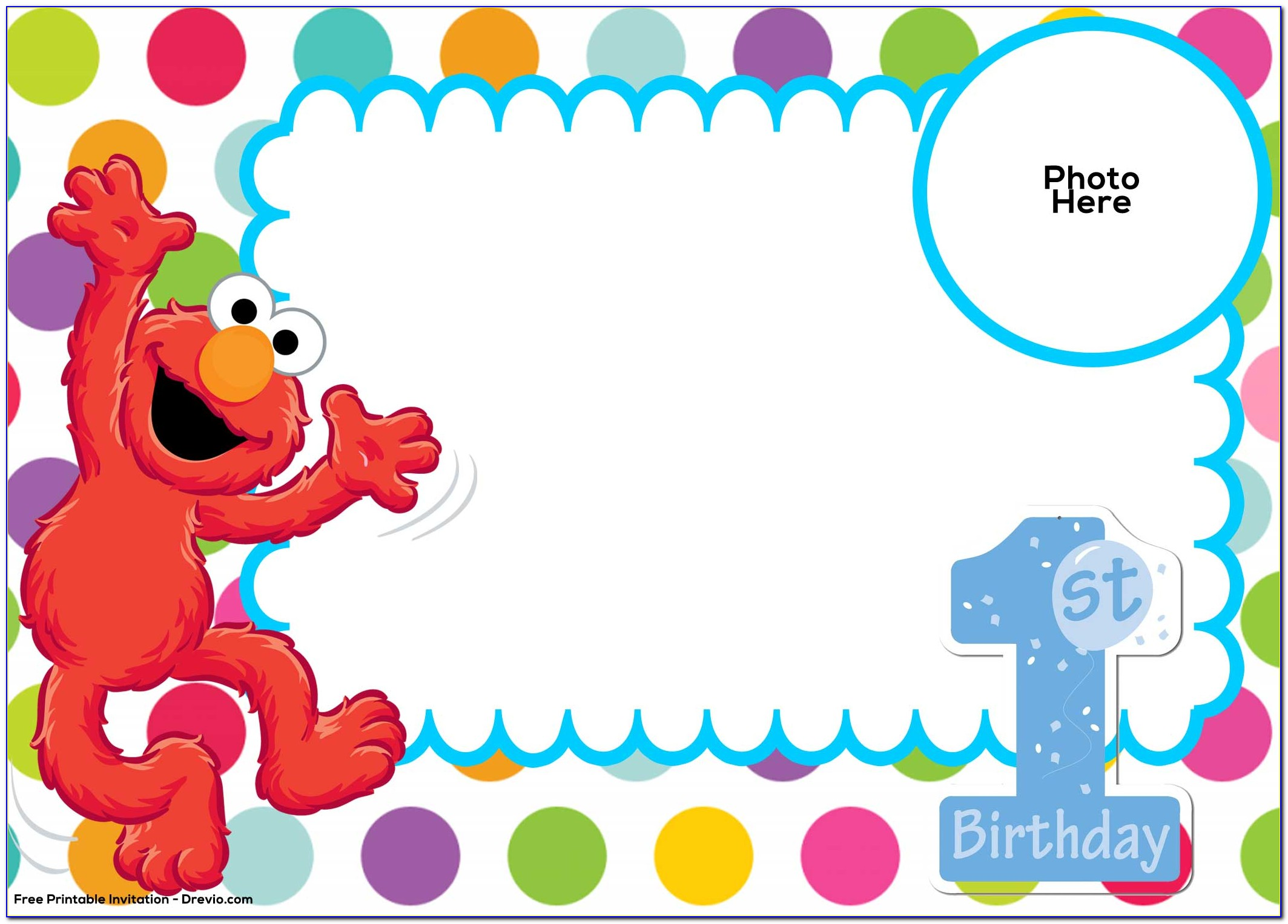 Free Printable 1 St Birthday Invitations Templates
