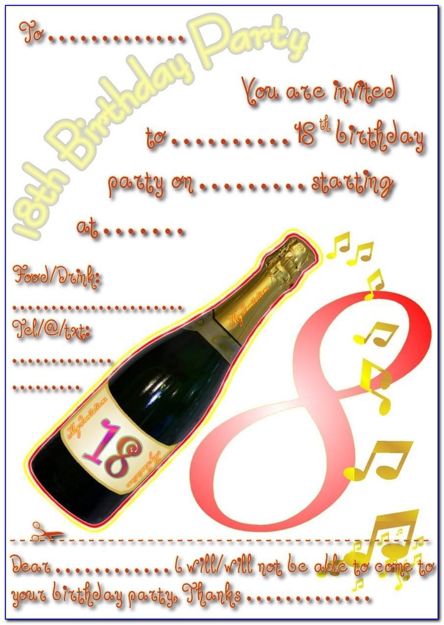 Free Printable 18 Th Birthday Invitation Templates