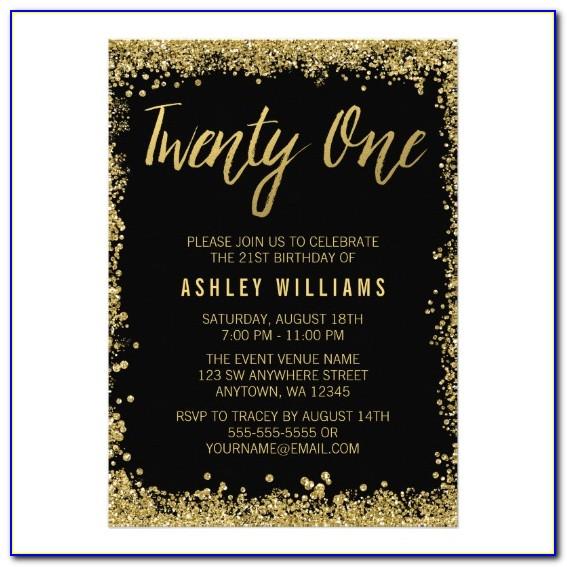 Free Printable 21 St Birthday Invitations Templates