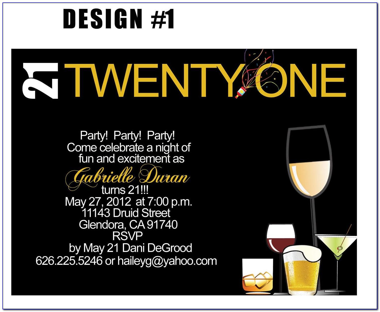 Free Printable 21st Birthday Invitations Templates