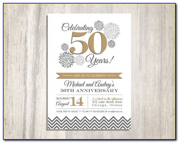 Free Printable 50th Anniversary Templates