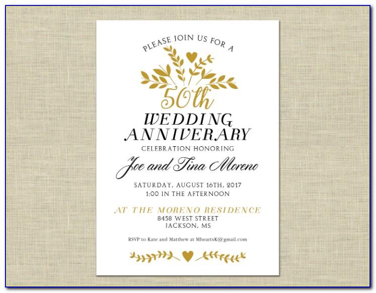 Free Printable 50th Birthday Party Invitations Templates