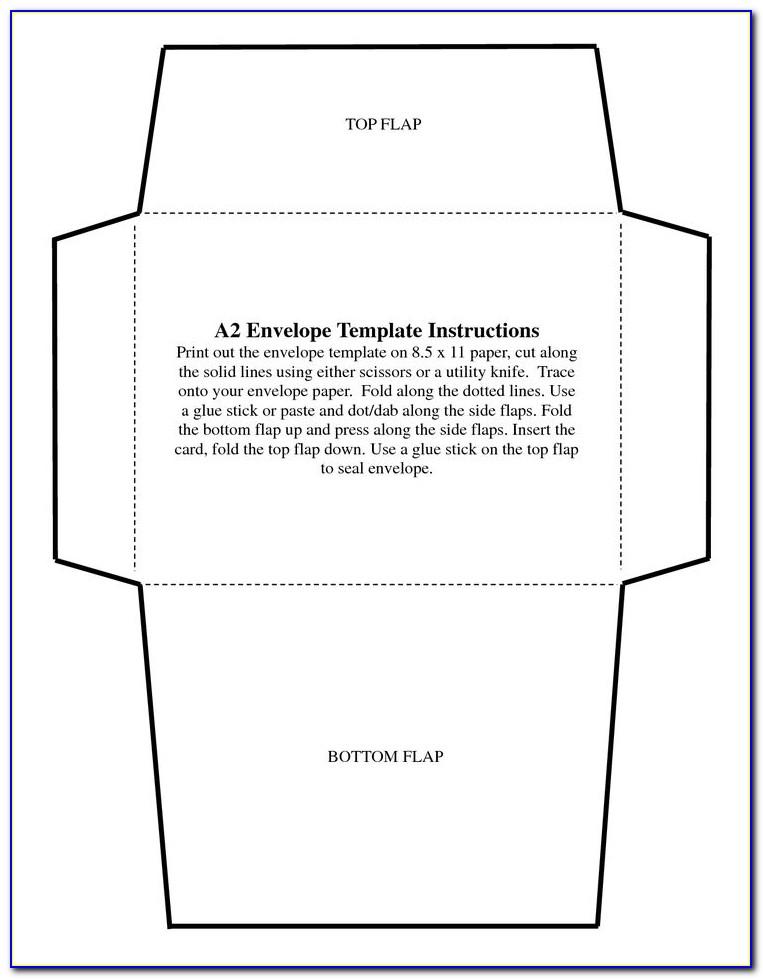 Free Printable 5x7 Envelope Template