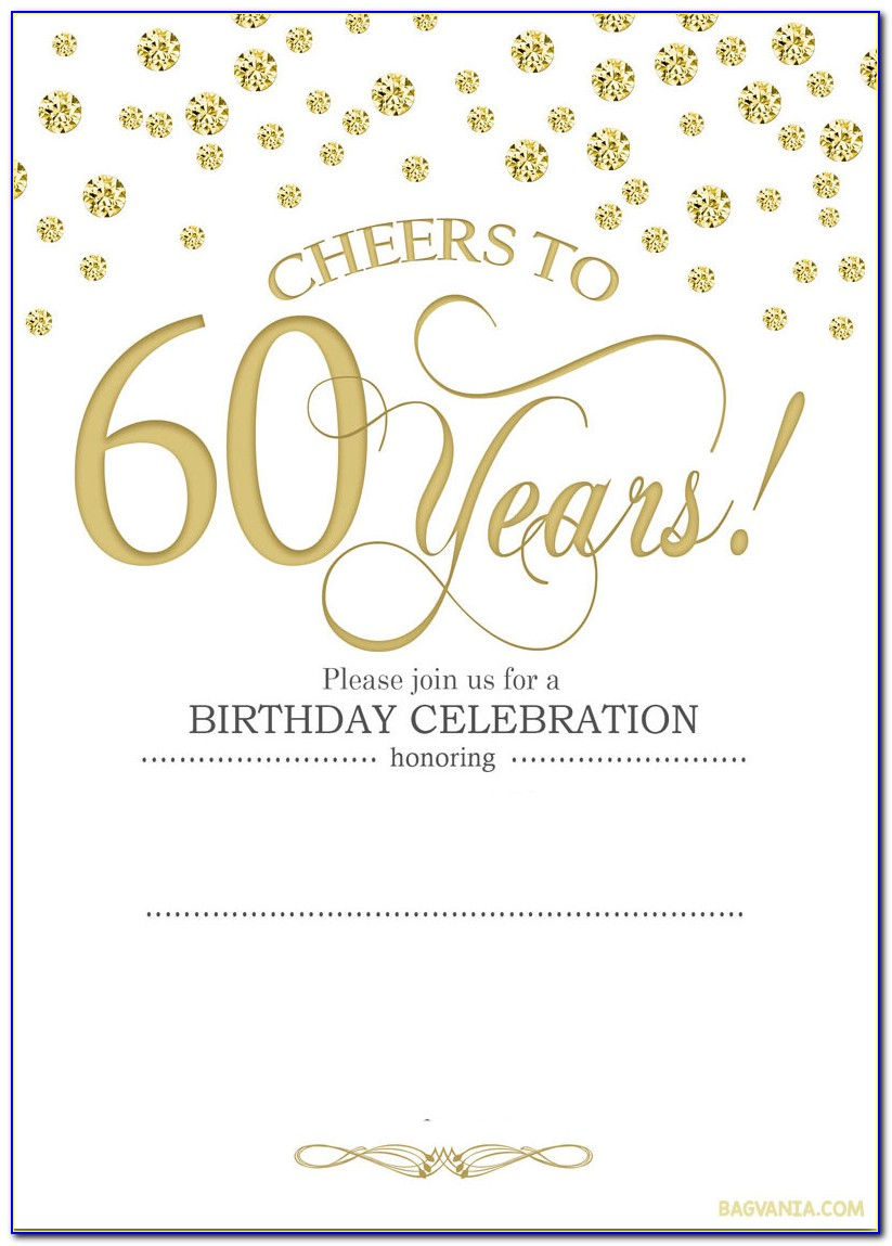 Free Printable 60th Birthday Invitations Templates