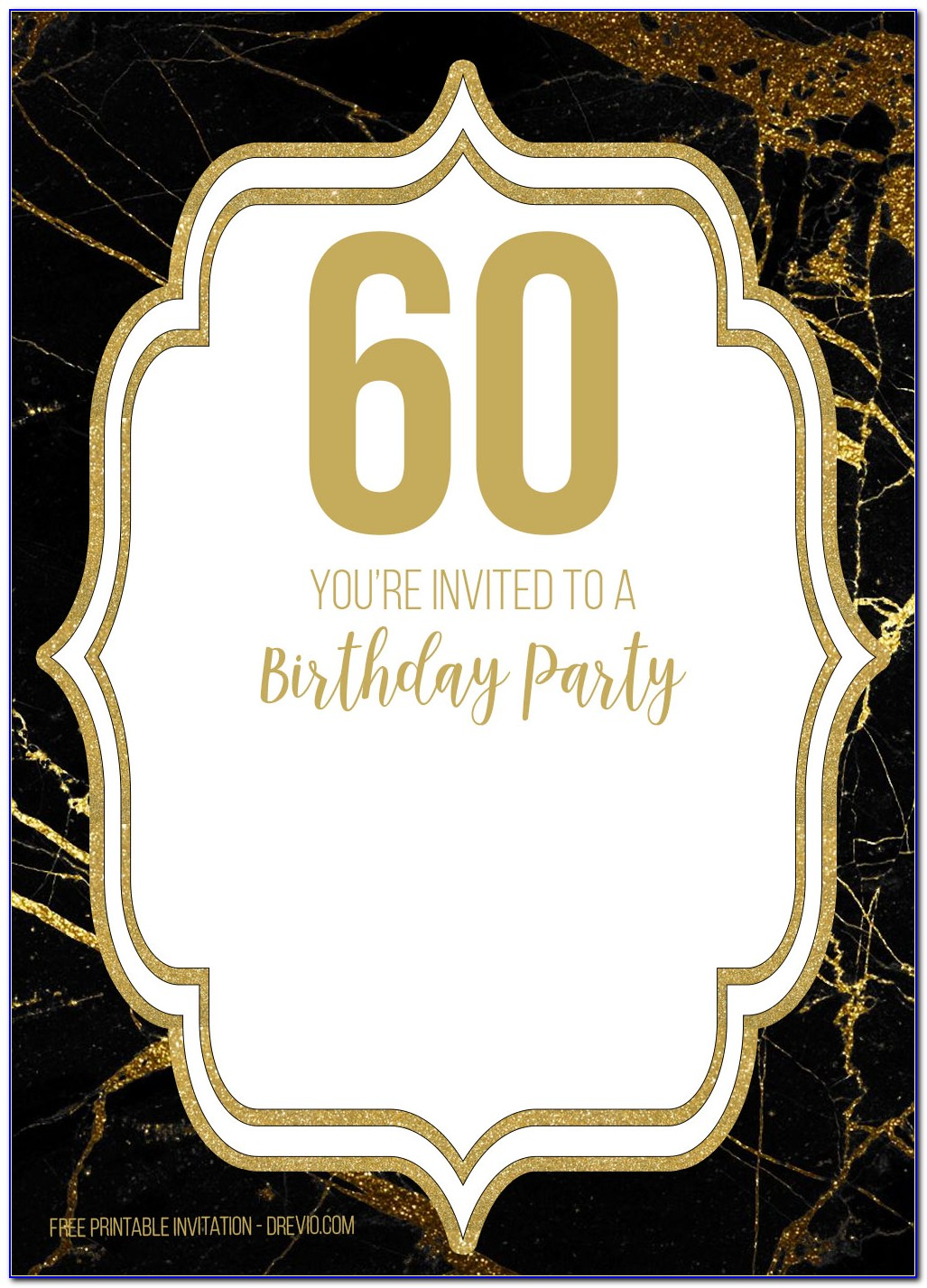Free Printable 60th Birthday Party Invitation Templates