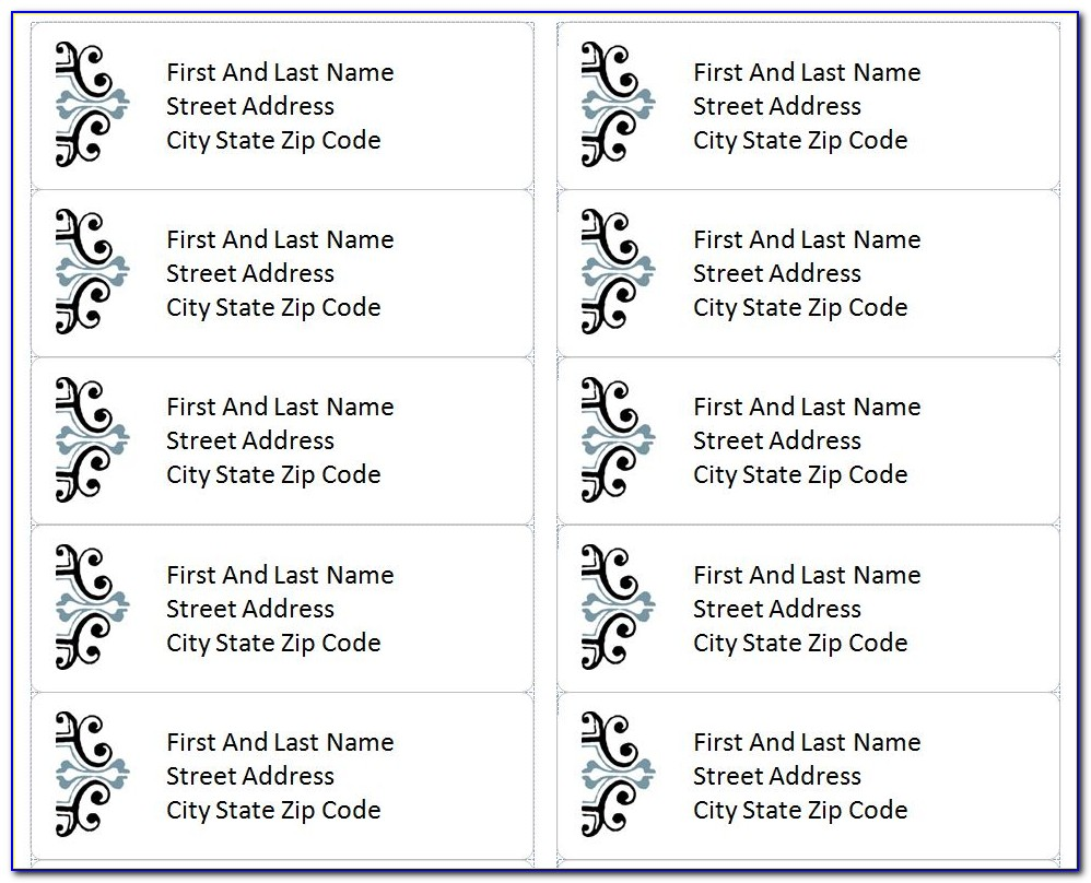 Free Printable Address Label Templates Microsoft Word
