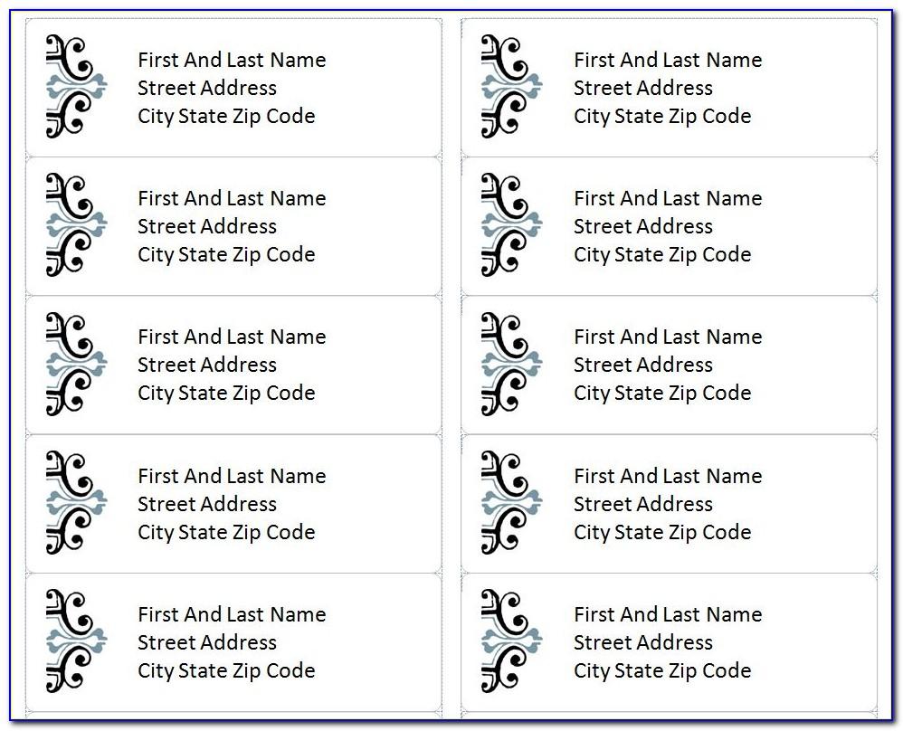 Free Printable Address Label Templates Microsoft Word