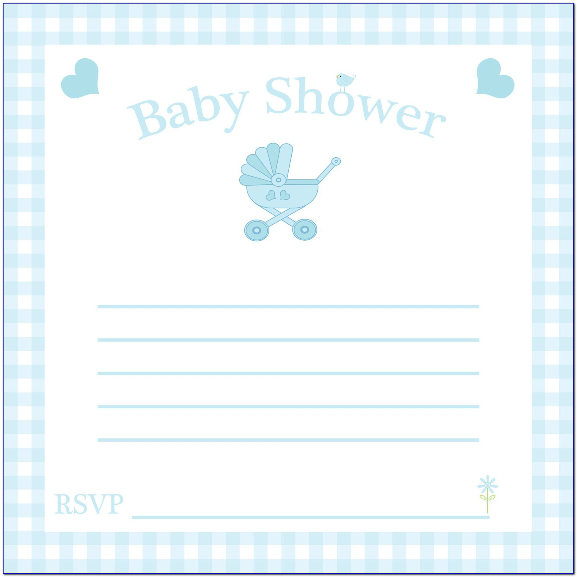 Free Printable Baby Shower Invitation Templates For Word