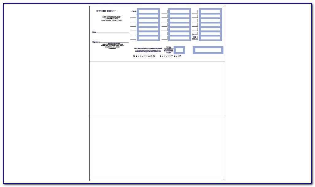 Free Printable Bank Deposit Slip Template