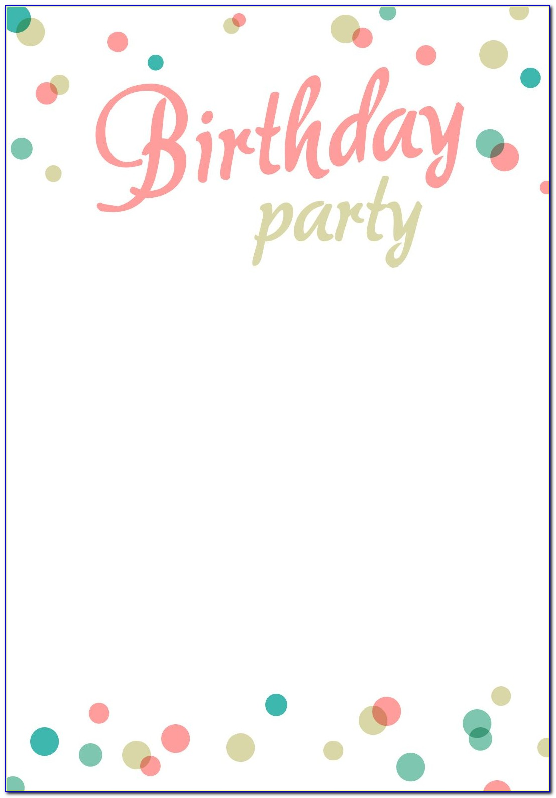 Free Printable Birthday Invitation Templates For Mac