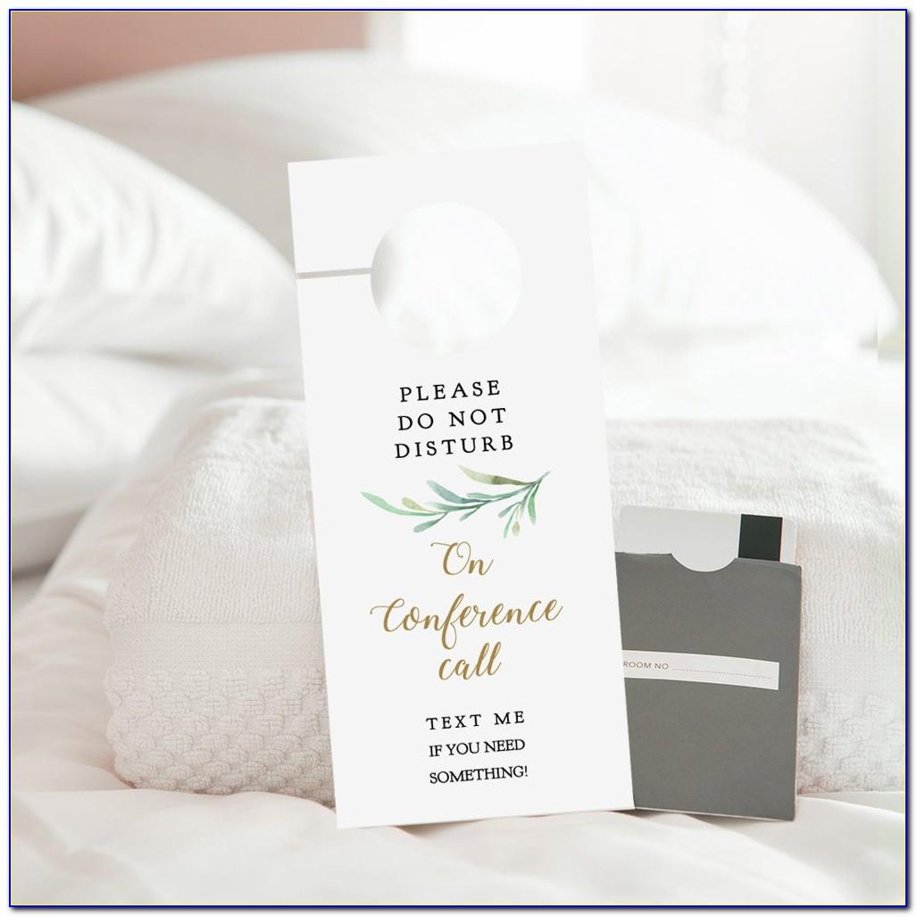 Free Printable Blank Door Hanger Template