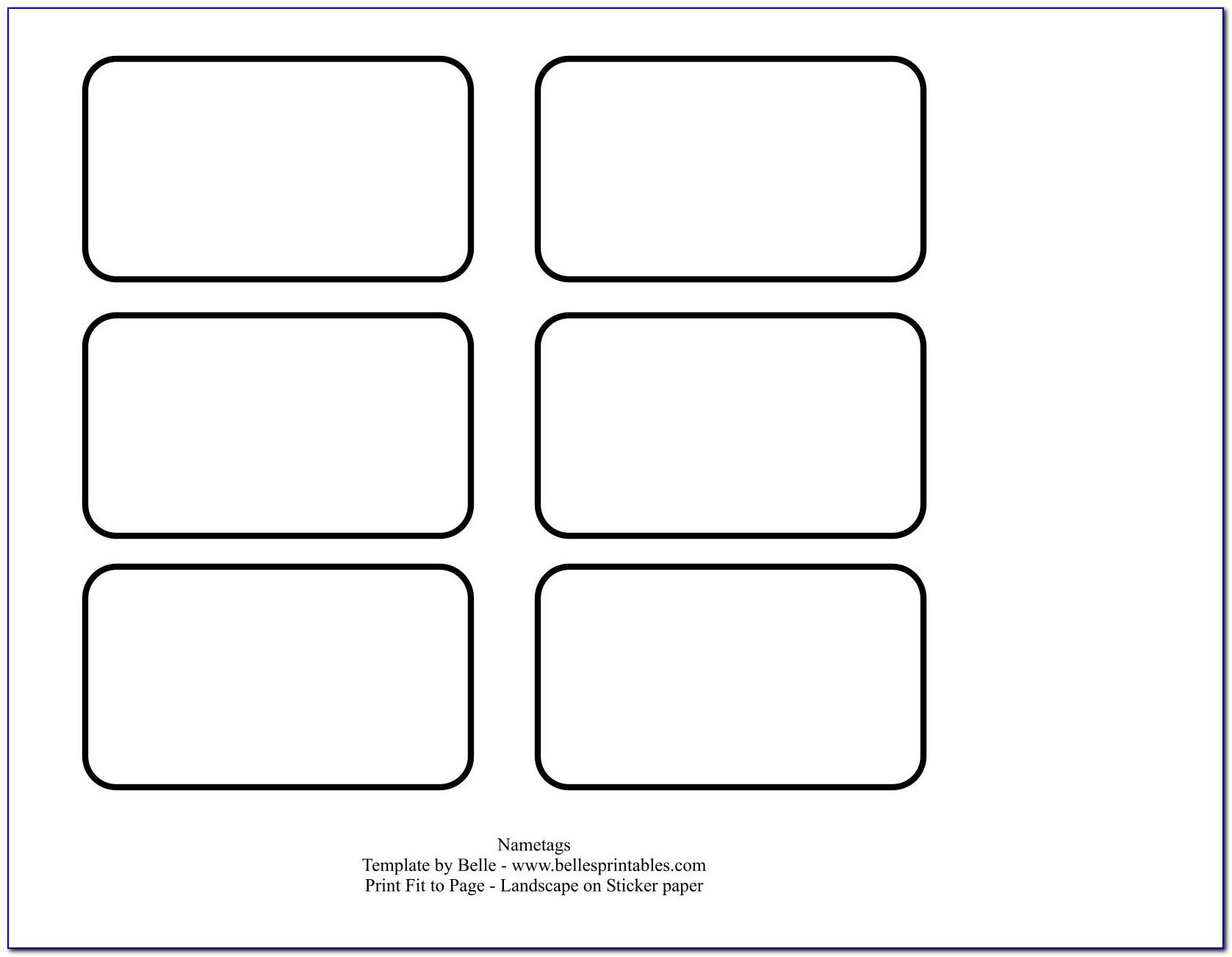 Free Printable Blank Name Tags Templates