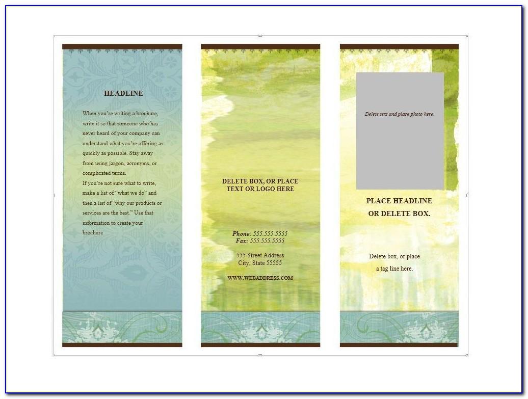 Free Printable Brochure Templates Online