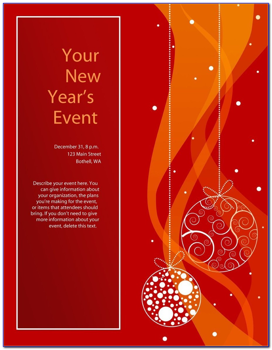 Free Printable Christmas Flyer Templates Word